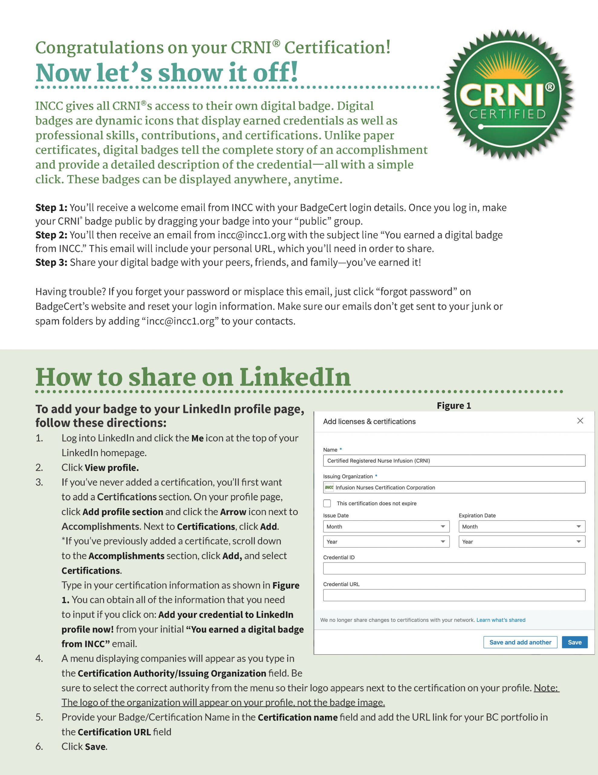 CRNI® Digital Badge Infographic