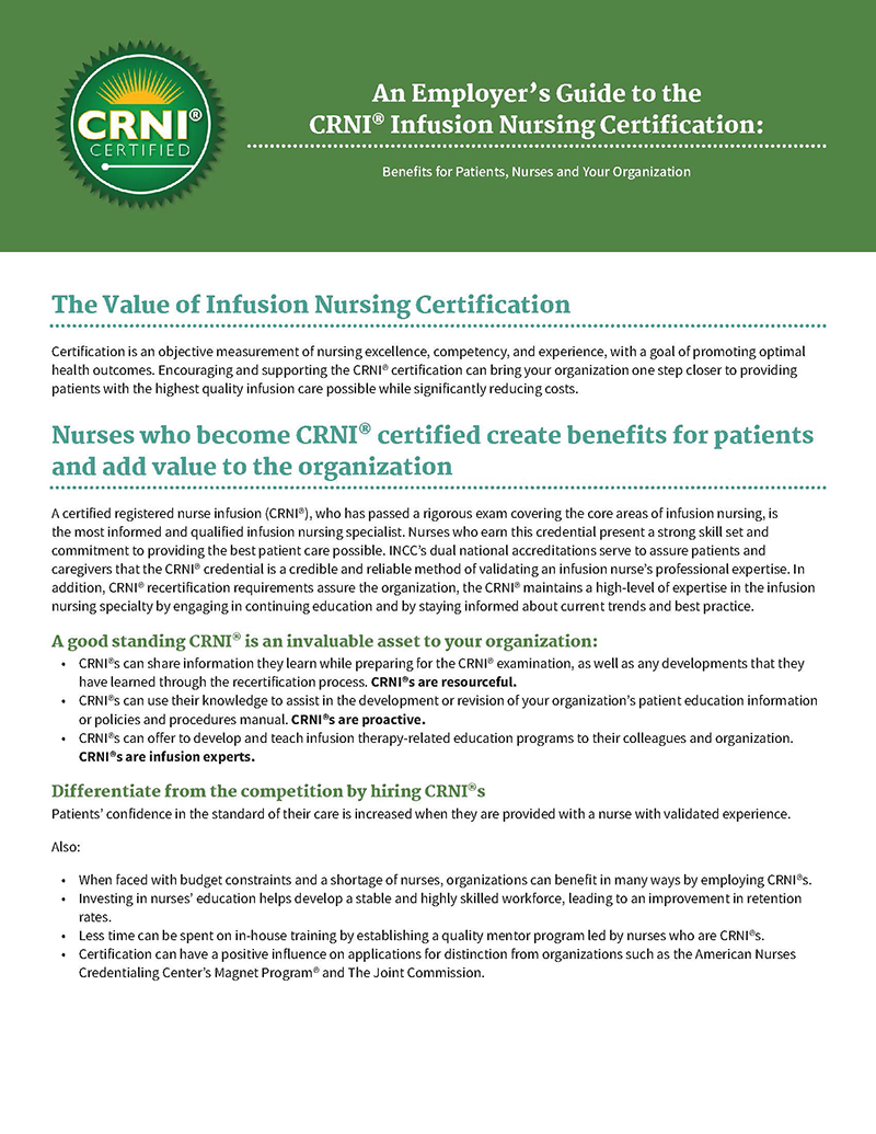 CRNI® Employer Guide PDF